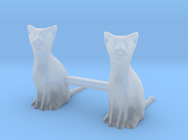Cats Sitting in Smoothest Fine Detail Plastic: 1:64 - S
