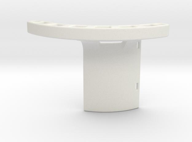 MTB Enduro 3D printed Bottom Bracket Protection in White Natural Versatile Plastic