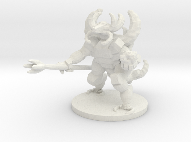 Hellfire Mage Demon in White Natural Versatile Plastic