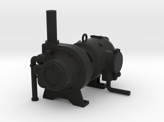 "2.5"" Scale Mosley Generator Live Steam in Black Natural Versatile Plastic"