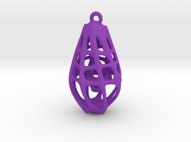 Dangly Lantern in Purple Strong & Flexible Polished