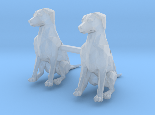Dogs Sitting S-Scale in Frosted Extreme Detail