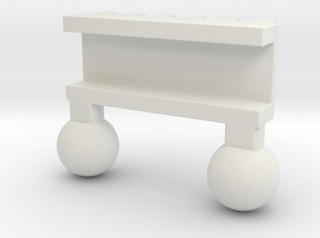 Lego Steer Rack in White Strong & Flexible