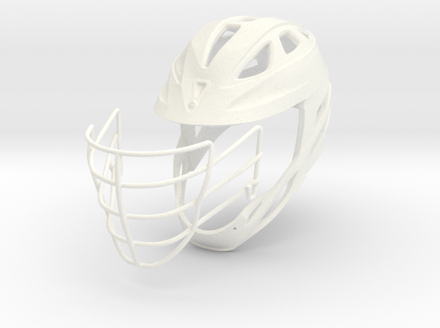 Helmet Divided - 2 Objects in White Strong & Flexible Polished