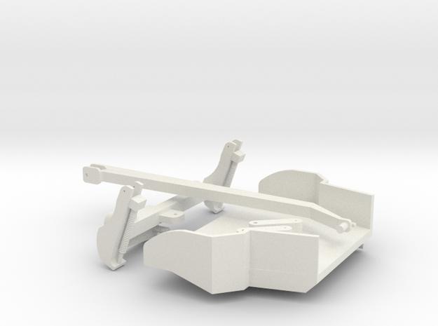 1/64 Green Disc Mower  in White Natural Versatile Plastic