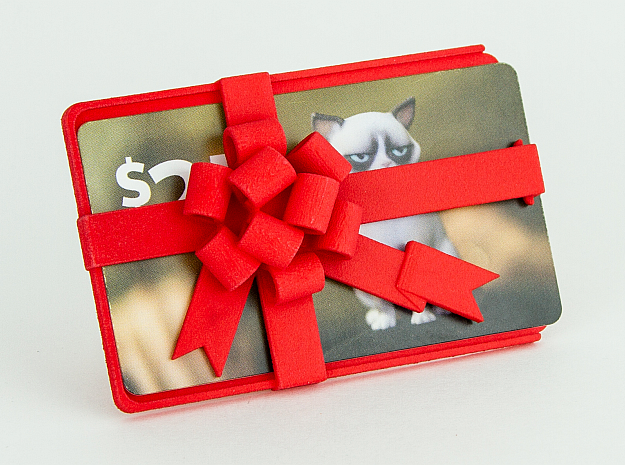 Gift Card Holder in Red Processed Versatile Plastic