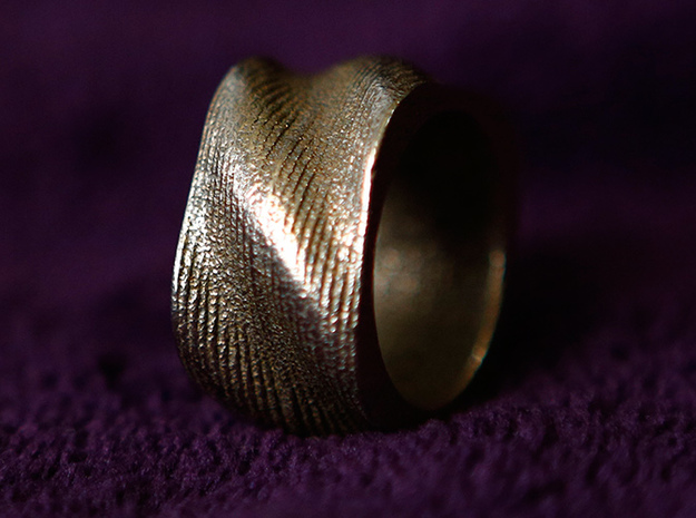 BASHIBA SWIRL (16.5 mm) in Polished Bronzed Silver Steel