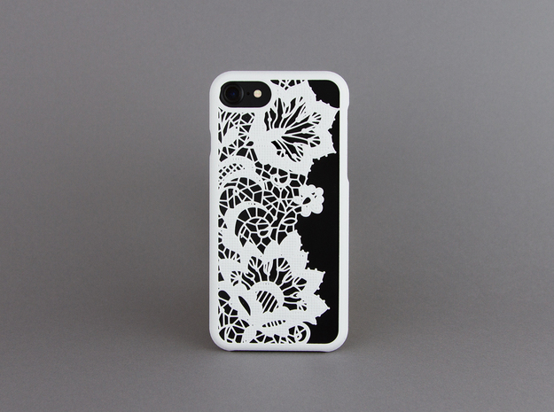 Lace - iphone 7 case in White Strong & Flexible