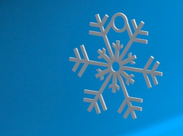 Snowflake Ornament 3d printed Christmas Ornament