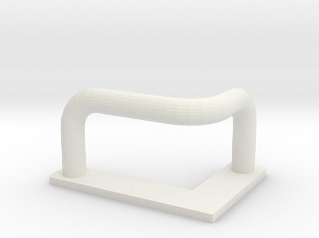 Step for ladder roofrack D90 D110 Adventure TRC in White Natural Versatile Plastic