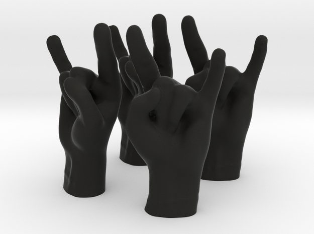 Horns Small in Black Natural Versatile Plastic
