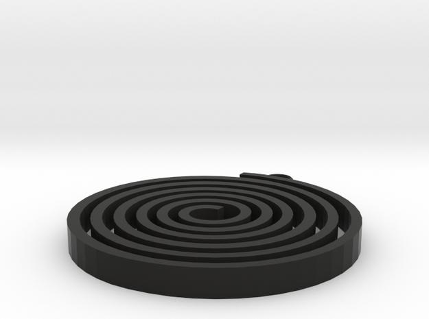 Boucle-spiralou in Black Natural Versatile Plastic