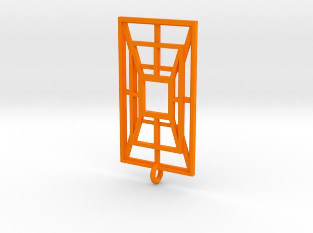 Weaved Metal in Orange Processed Versatile Plastic