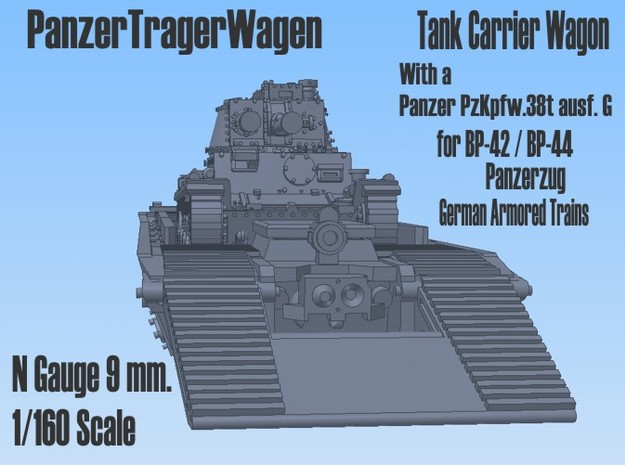 1-160 Pz-Tr-W+ PzKpfw 38t For BP-42 3d printed
