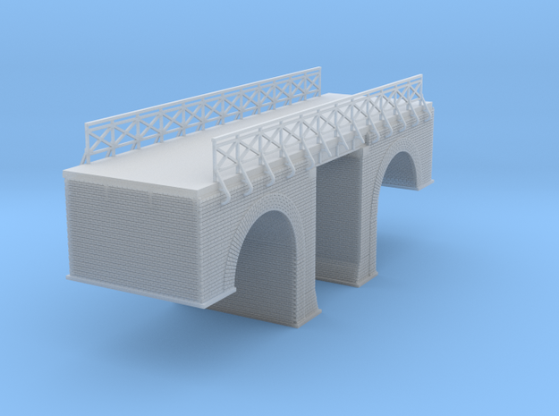 Polish Arched Road Bridge Z Scale in Smooth Fine Detail Plastic