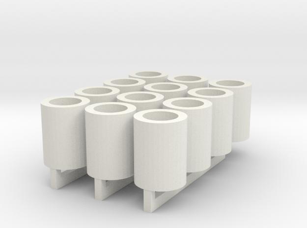 Fass für 12 Wasserbomben 1:100 in White Natural Versatile Plastic