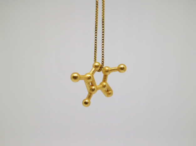 Furaneol (Strawberry Aroma) Molecule Necklace