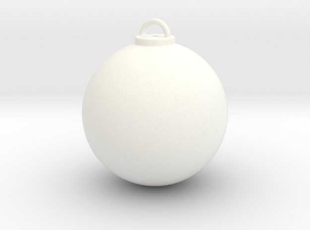 Christmas Ball Hollow - Custom in White Processed Versatile Plastic