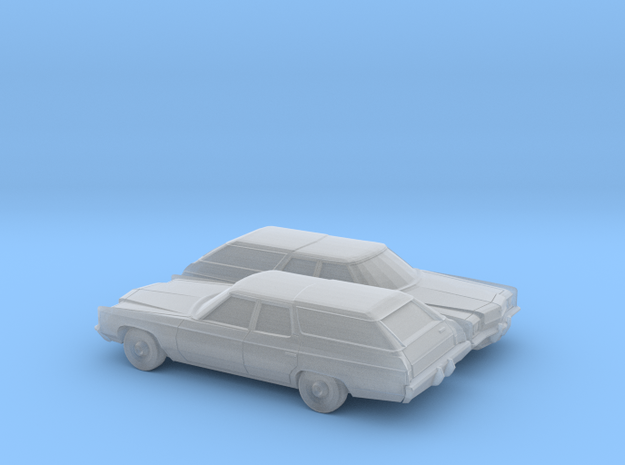 1/160 2X 1972 Impala Kingswood Station Wagon in Smooth Fine Detail Plastic