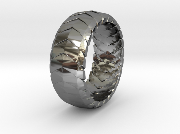 V RING 6  in Premium Silver: 10 / 61.5
