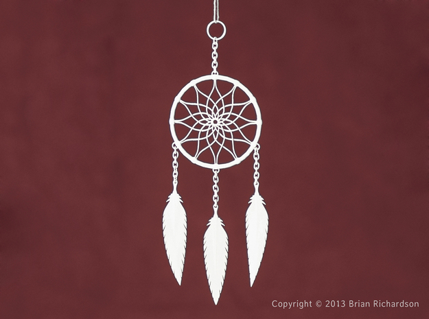 Dreamcatcher in White Natural Versatile Plastic