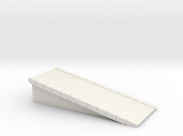 N Scale Platform #1 Ramp in White Natural Versatile Plastic