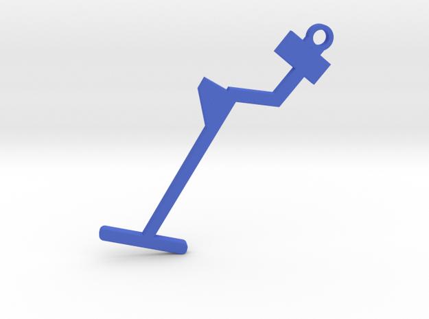 Metal Detector Keyring in Blue Processed Versatile Plastic
