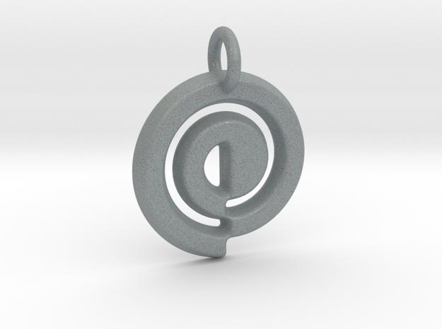 Swirl Keychain in Polished Metallic Plastic