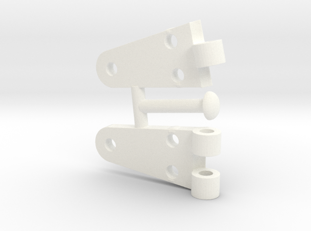 Whirlwind  Hinge Complete  in White Strong & Flexible Polished
