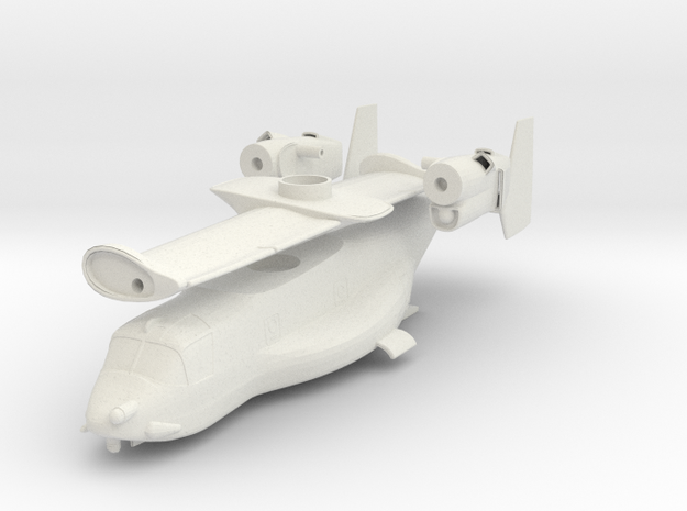 1/96 scale V22 Osprey - Body only in White Natural Versatile Plastic
