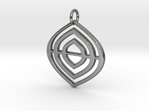 Leafs Deco pendant in Fine Detail Polished Silver