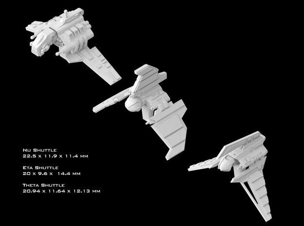 (Armada) Republic Shuttles Set I in Smooth Fine Detail Plastic