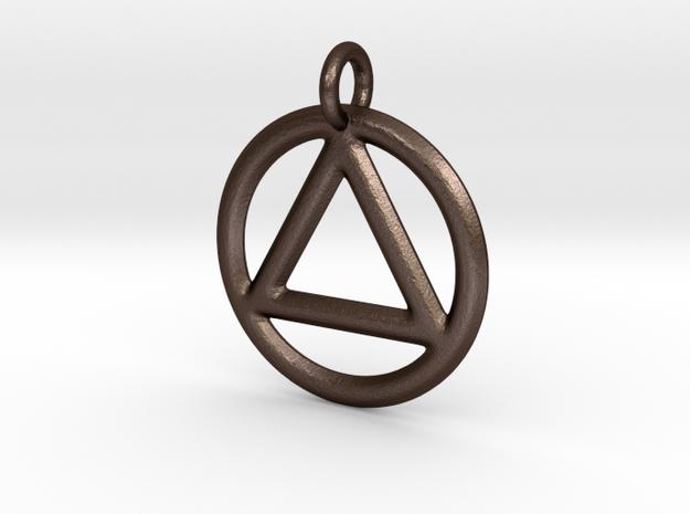 AA Pendant in Matte Bronze Steel
