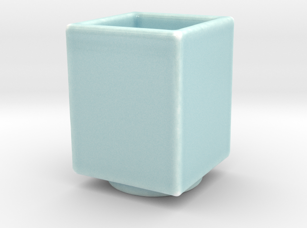 Celadon Selife 3x4 Succulant Planter in Gloss Celadon Green Porcelain