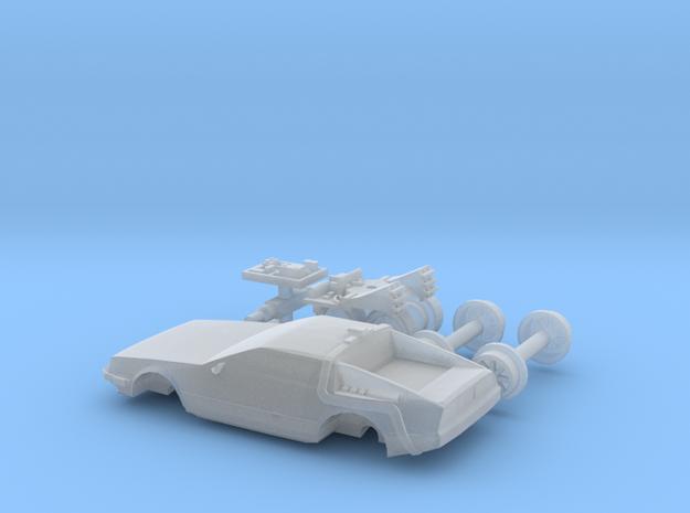 DeLorean Time Machine Train HO 1:87 in Smoothest Fine Detail Plastic