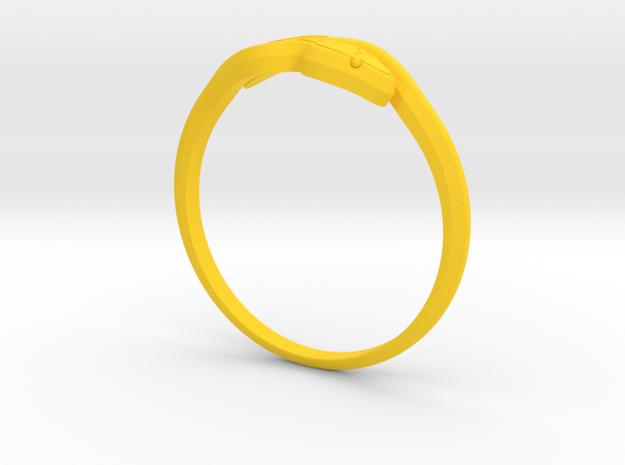 1 2 in Yellow Processed Versatile Plastic