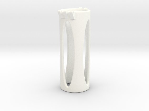 Ccage-shaft-oval 31-100 in White Processed Versatile Plastic