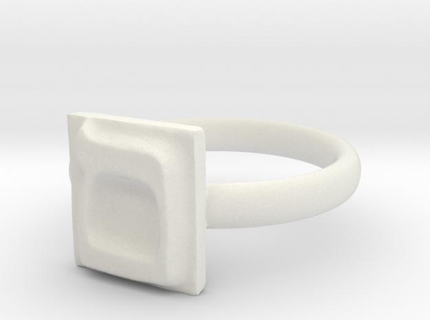 24 Mem-sofit Ring in White Natural Versatile Plastic: 7 / 54