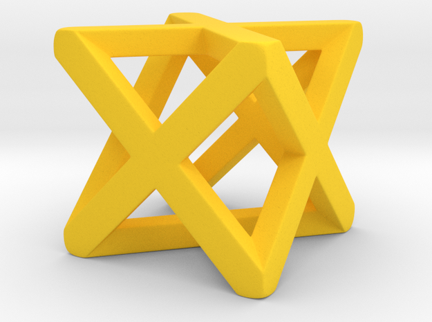 Christmas star  in Yellow Strong & Flexible Polished