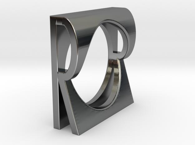 R RING SZ6.5 in Premium Silver