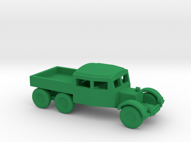 1/200 Scale Scammel Truck in Green Processed Versatile Plastic