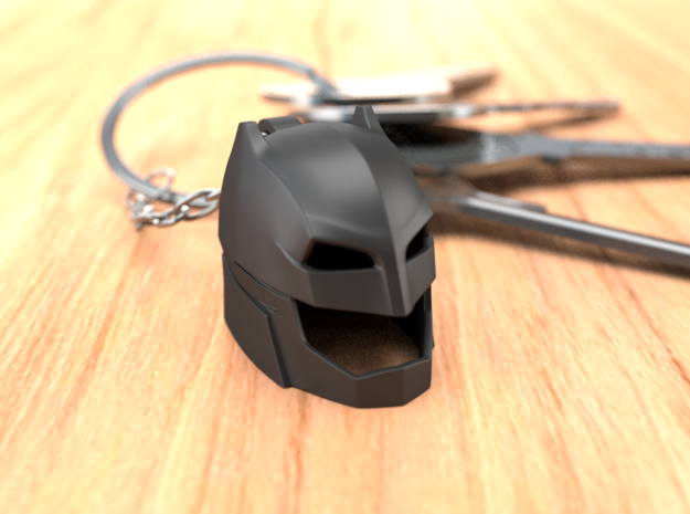 Batman Keychain in Black Natural Versatile Plastic