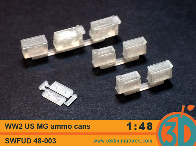 WW2 US MG Ammo Cans 1/48 scale SWFUD 48-003
