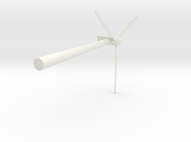 Wind 450KW Turbine in White Natural Versatile Plastic: Extra Small