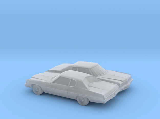 1/160 2X 1973 Chevrolet Impala Custom Coupe in Smooth Fine Detail Plastic