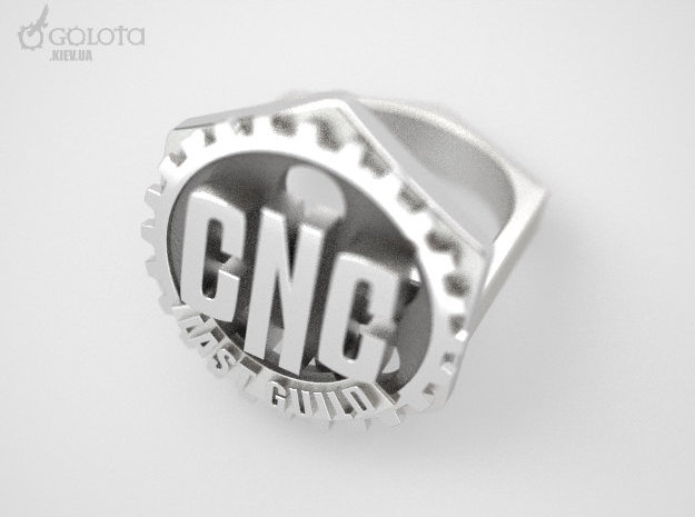 CNC Guild Ring - 9 size in Stainless Steel