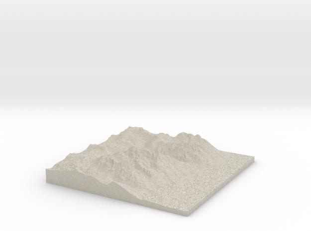 Model of East Prong in Natural Sandstone