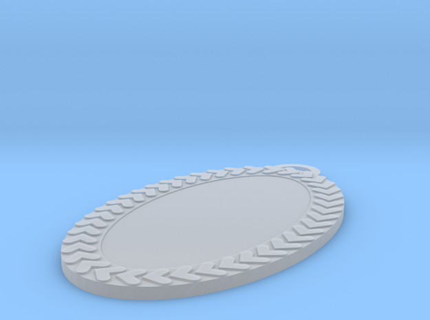 Oval Pendant 30 Mm in Smoothest Fine Detail Plastic