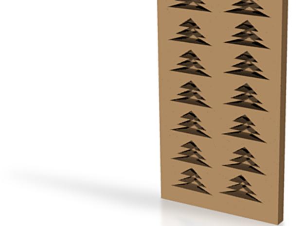 Chocolate Xmas Tree Mold 3d printed