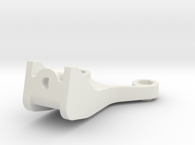 0005 - Astute G4 Front Bulkhead Brace in White Strong & Flexible